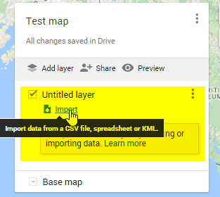 Import your layer (KML file)