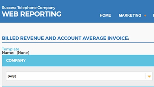 Revenue review with Web Reporting